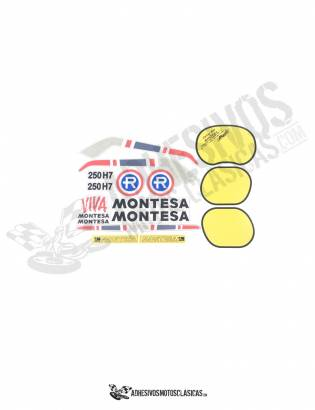 copy of MONTESA Enduro 250 H7 1st series Stickers kit