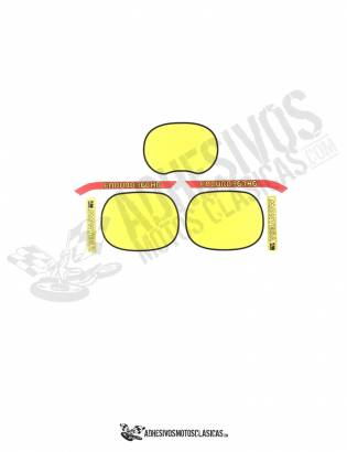yellow MONTESA Enduro 360 H6 Stickers kit