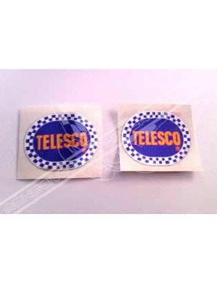Chrome Sticker - Blue Telesco