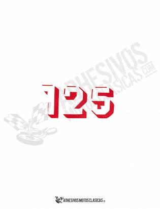 DERBI 125cc Red Stickers