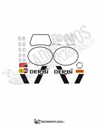 DERBI RD 50 Stickers kit