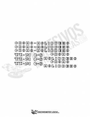 juego de Adhesivos DERBI cross Cromo Molibdeno