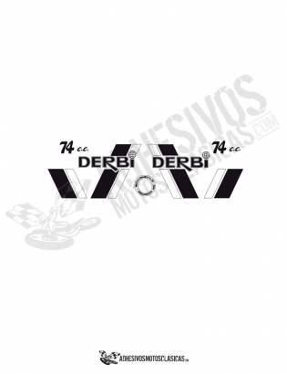 DERBI TT8  Stickers kit