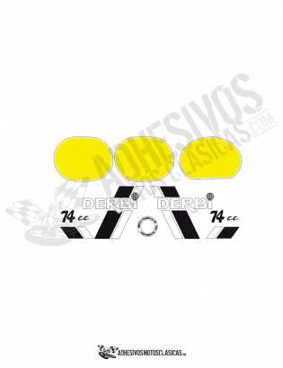 juego completo de adhesivos DERBI TT8 extra