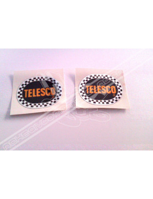 Chrome Sticker - Black Telesco