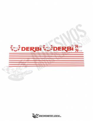 DERBI Sport Coppa 74 Stickers kit