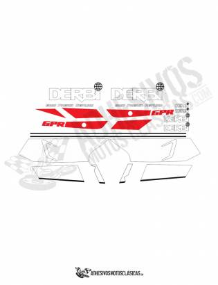 DERBI GPR 75 Stickers kit