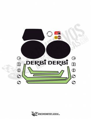 DERBI Yumbo CX Stickers kit