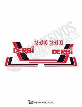 juego de Adhesivos DERBI RC 250 (1)