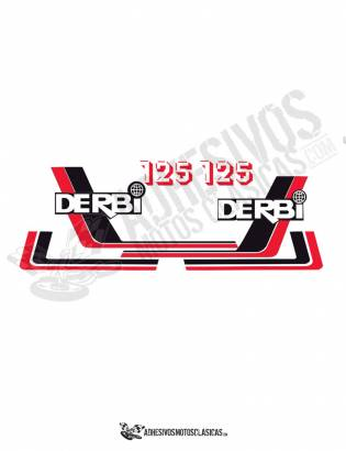 DERBI RC 125 (3) Stickers kit