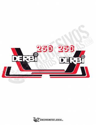 DERBI RC 250 (4) Stickers kit