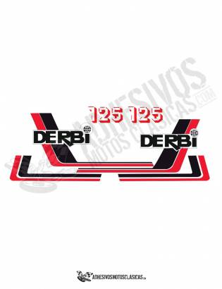 DERBI RC 125 (6) Stickers kit