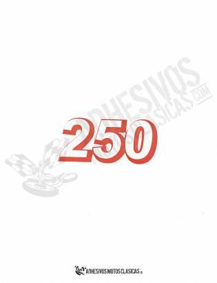 Adhesivo DERBI 250cc rojo