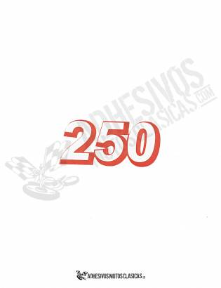 DERBI red 250cc Stickers