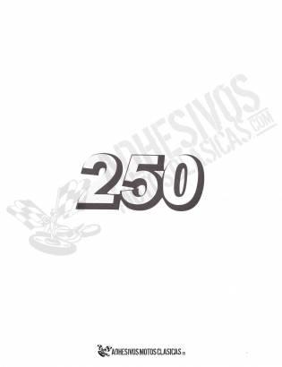 Adhesivo DERBI 250cc negro