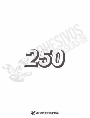 DERBI black 250cc Stickers