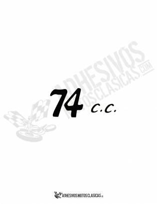 DERBI black 74cc Stickers