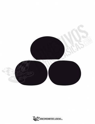 Adhesivos Portanúmeros DERBI TT 8 NEGROS