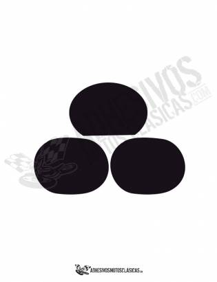 DERBI Number Panels Black Stickers