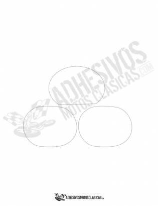 Adhesivos Portanúmeros DERBI TT 8 blancos
