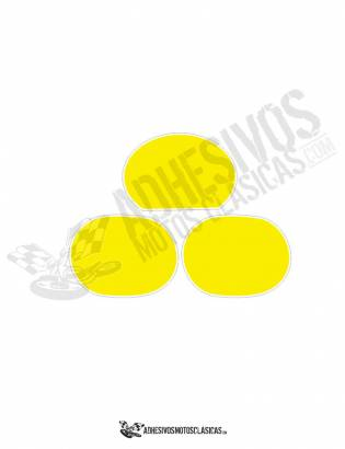 DERBI Number Panels yellow Stickers