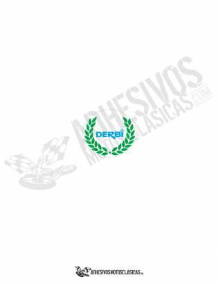 DERBI Blue Laurel Sticker
