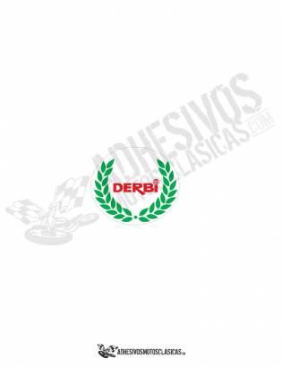 DERBI Red Laurel Sticker