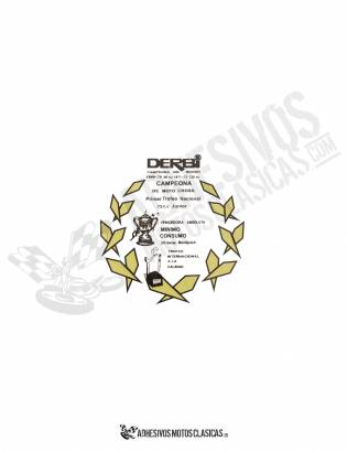 DERBI Black Laurel championships Sticker