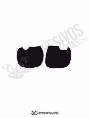 DERBI RC Number Panels Black Stickers
