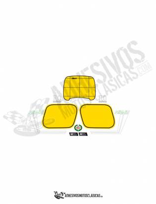 GREEN RIEJU MR 80 Stickers KIT