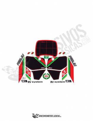 White Rieju rv 50 stickers kit