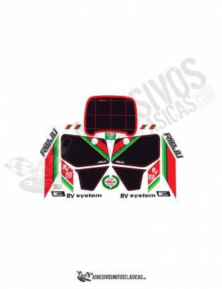 White Rieju rv 50 stickers kit