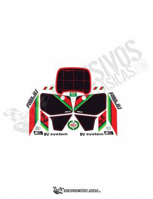 black Rieju rv 50 stickers kit