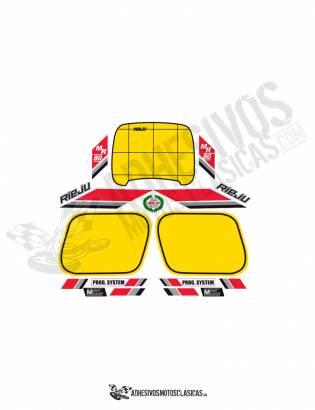 RIEJU MR80 Red/Black Stickers kit