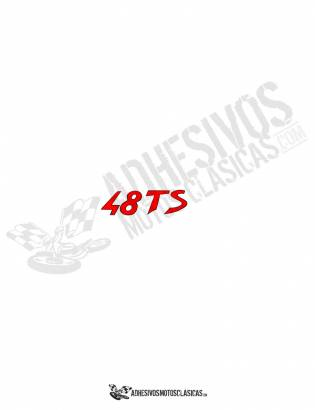 Adhesivo DUCATI 48 TS