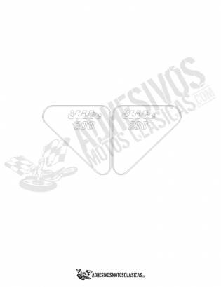 DUCATI Elite 200 Stickers