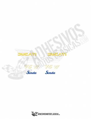 DUCATI Senda 75 TT Stickers kit
