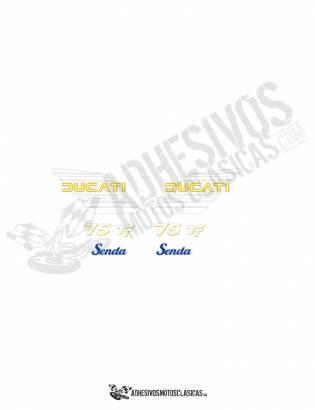 DUCATI Senda 75 TT Stickers kit