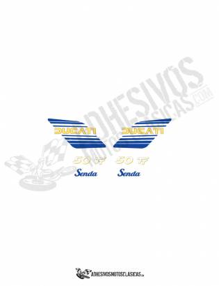 DUCATI Senda 50 TT BLUE/YELLOW Stickers kit