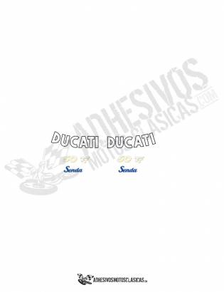 DUCATI Senda 50 TT CURVED Stickers kit