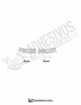 juego de Adhesivos DUCATI Senda 50 TT CURVADOS