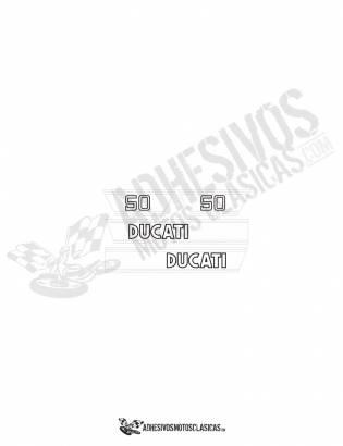 juego de Adhesivos DUCATI 50 TS BLANCOS