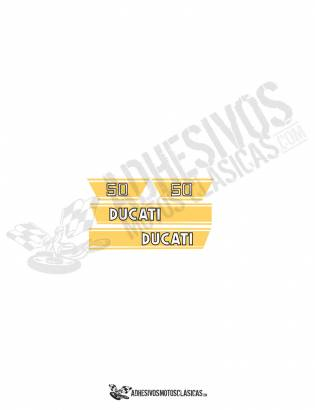 DUCATI 50 TS YELLOW Stickers kit