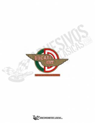 Adhesivo logo DUCATI 125 ts