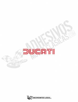Adhesivo logo DUCATI rojo