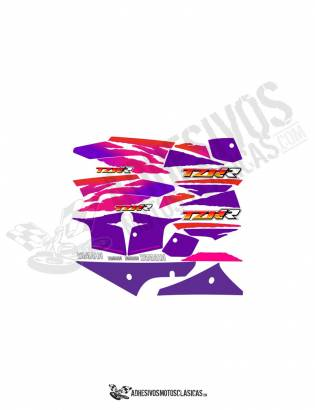 White YAMAHA TZR 80 RR Stickers KIT