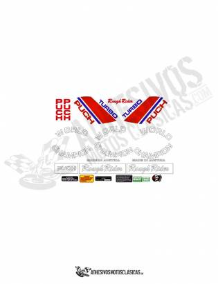 PUCH MAGNUM  ROUGH RIDER TURBO Stickers kit