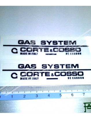 CORTE & COSSO - Gas System Stickers