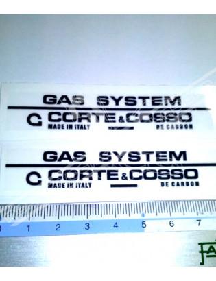 CORTE & COSSO - Gas System Stickers