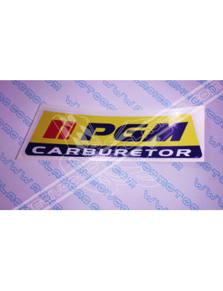 PGM Carburetor Sticker